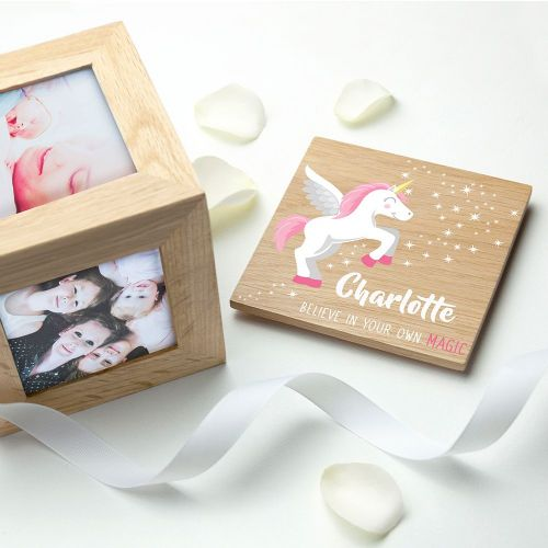 Baby Unicorn Photo Cube